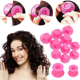$enCountryForm.capitalKeyWord Australia - 10pcs set Soft Rubber Magic Hair Care Rollers Silicone Hair Curler No Heat No Clip Hair Curling Styling DIY Tool