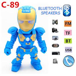 $enCountryForm.capitalKeyWord Australia - Portable Mini Speaker Iron Man Bluetooth Wireless Speakers with LED Flashing Light Stereo Hifi Sound Box TF USB MP3 Player for mobile phone