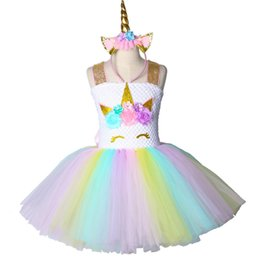 $enCountryForm.capitalKeyWord Australia - Children Girls Unicorn Tutu Dress Rainbow Princess Kids Birthday Party Dress Girls Christmas Halloween Pony Cosplay Costume 1-14