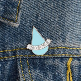 water drop brooches Australia - Water Drops SAD SONGS Blue Green Special Personality Tide New Brooch Creative Cartoon Lapel Denim Badge