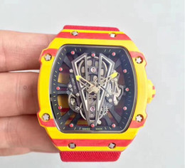 Hollow Fiber Australia - good price and good quality men watch luxury carbon fiber case hollow out deign popular items water resistant