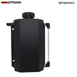 $enCountryForm.capitalKeyWord Australia - EPMAN Universal 2L Alloy Engine Oil Fuel Gas Catch Can Breather Tank Bottle Coolant Radiator Overflow Tank EPYXFST011