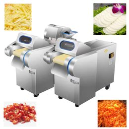 multi slicer Australia - 220V Hot sale vegetable cutting machine for potatoes radishes leeks cabbage green onions slicer shredded cut section vegetable cutter
