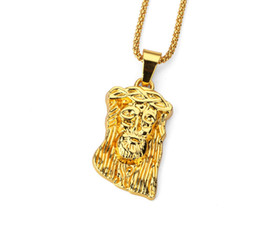 gold jesus face pendant Australia - 2019 New Iced Out Pendants JESUS Face Designer Necklace Popcorn Chain Hip Hop Style Necklace Gold Plating jewelry Necklace