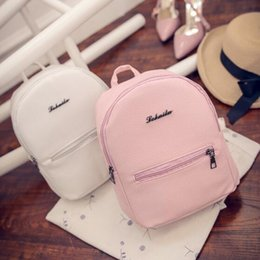 4de3a5198fb9 Women Small backpack Sweet College Wind Mini Shoulder Bag High quality PU  leather Fashion girl candy color female bag
