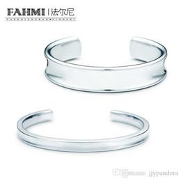 $enCountryForm.capitalKeyWord Australia - FAHMI Charm Gift 925 Sterling Silver Genuine Classic Letter Logo Open Bracelet Silver Match World Jewelry