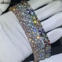 $enCountryForm.capitalKeyWord NZ - choucong 3 Colors Flower shape bracelet 5A Cubic Zirconia White Gold Filled Party Wedding bracelets for women Fashion Jewerly