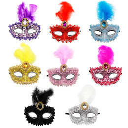 Cosplay Cartoon eyes half mask online shopping - Creative Feathers Pretty and sexy eyes mask cosplay dancing party Mask party feather colorful painting