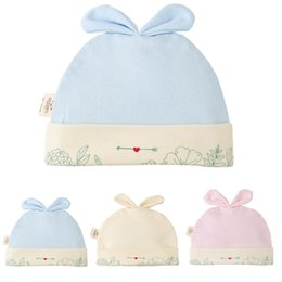 baby bow hat Canada - Solid Cotton Newborn Baby Tire Caps With Ear Girls Boys Sun Hats With Bow 2020 Spring Summer Baby Girls Clothing Accessories
