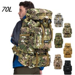 Army bAckpAcks cAmo online shopping - 70L Camo Tactical Backpack Army Waterproof Hiking Camping Backpack Travel Rucksack Outdoor Sports Climbing Bag styles K746