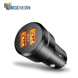 usb power bank adapter UK - Tiegem 36w Quick Charge 3.0 Dual Usb Car Charger Universal Travel Mobile Phone Charger Adapter For Iphone Sony Samsung Xiaomi T190627