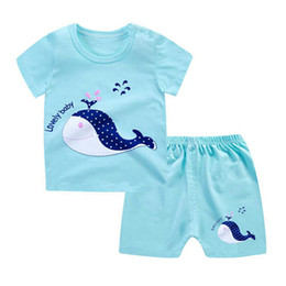 Boy Chinese Suit Australia - Children Summer Suit New Cotton Baby Short Sleeve Short Pants Suit Boys and Girls Baby Cotton Suit