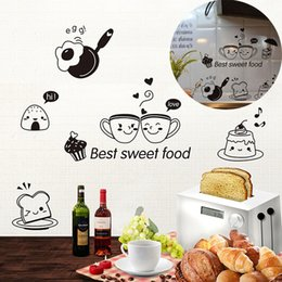 Sweets Wall Stickers Australia - 40*20cm Black Kitchen Wall Stickers Best Sweet Food DIY Wall Art Decoration Oven Dining Hall Wallpapers PVC Wall Decals