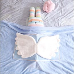 Wholesale Baby Blanket Newborn Swaddle Wrap Blankets Angel Wings Toddler Infant Bedding Quilt For Bed Sofa pillow Basket Stroller Blankets