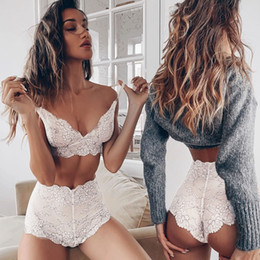 $enCountryForm.capitalKeyWord NZ - Lingerie Women Flower Lace Underwear Plus Size Bra Set Sexy Lingerie Set Sleepwear Clothes for Women NEW Fashion HOT SALE