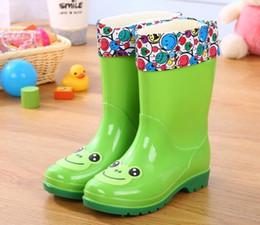 Cotton Candy Color Shoes Australia - Children's Water Shoes Waterproof Children Rainboots Soild Candy Colors Rubber Warm Boys Girls Rain Boots Children Rain Shoes Y19051303