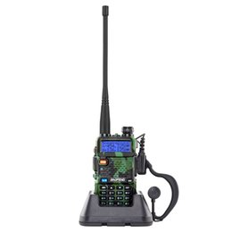 """1.5"""" LCD 5W 136~174MHz   400~520MHz Dual Band Walkie Talkie with 1-LED Flashlight Camouflage Color High power walkie talkie full band on Sale"""