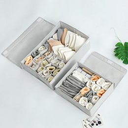 $enCountryForm.capitalKeyWord Australia - Wash Oxford Cloth Underwear storage Box bins organizer Cover Underpants Socks Bras Arrangement rangement Box