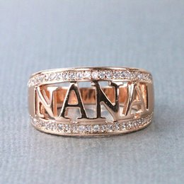 $enCountryForm.capitalKeyWord Australia - Hot Sale Wedding Bands Silver Color Letter NANA Ring for Women Rings Mothers Grandma Gifts Rings Jewelry