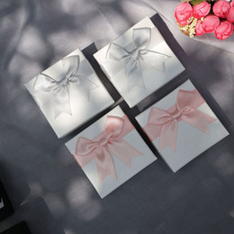 $enCountryForm.capitalKeyWord Australia - Exquisite Gift Box Ring Bracelet Stud Luxury Quality Jewelry Box Jewelry Packaging Case With Bow-Tie Valentine's Gift Box