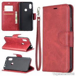 Wholesale For RED MI NOTE6 Pure Color Sheep Pattern Leather Phone Case Cover Stand Style Card Cash Wallet Design B150