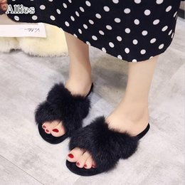 korean flat slippers Australia - Allies Free shipping slippers women's fashion 2019 new Korean version of the autumn and winter models flat women's shoes
