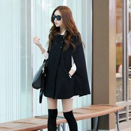 hottest clothing for women Australia - New Hot Women Lady Cloak Poncho Coat Loose Fashion Outwear Medium Length Clothing For Winter YAA99