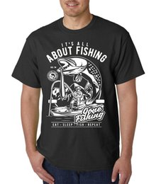 Fishing Novelty Gifts NZ - It's All About FISHING T-Shirt - Funny Fisherman Gift