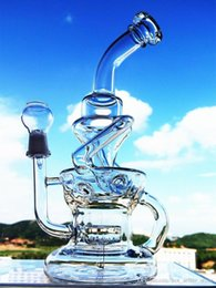 $enCountryForm.capitalKeyWord Australia - 10 inch mobius vortex recycler bong showerhead swiss percolator glass water pipe unique cyclone dab oil rig for sale 14mm bowl and banger
