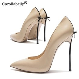 thin brick 2020 - 2019 Autumn High Quality Sexy Women Pumps Pointed Toe shoes Bowtie Thin High Heels Wedding Shoes Pumps Party Shoes S2004