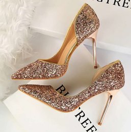 a6bbebe6f2 Golden Glitter High Heels Online Shopping | Golden Glitter High ...