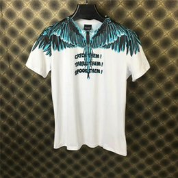 Wholesale 2019 New Marcelo Burlon d printing T Shirts Men Women Italy County of Milan Feather Wings MB T shirt RODEO MAGAZINE Tee T Shirts U1821