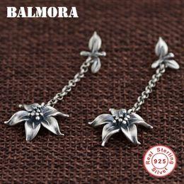 $enCountryForm.capitalKeyWord Australia - Balmora Authentic 925 Sterling Retro Flower Dangle Drop Earrings For Women Lover Gift Thai Silver Jewelry Brincos Sy31456 T190627