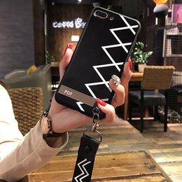 Iphone 6s Plus Phones Australia - New Simple Style Designer Phone Case for IPhone X 6 6S 6plus 6S Plus 7 8 7plus 8plus Phone Case with Simple Lines 2 Style