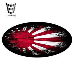 $enCountryForm.capitalKeyWord Australia - wholesale 20pcs lot Fade To Black OVAL Design & Japanese Rising Sun Flag Vinyl Car Sticker Decal Decorate 13cm x 6.6cm