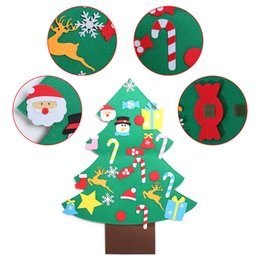 $enCountryForm.capitalKeyWord Australia - Kids DIY Felt Christmas Tree Ornaments Children Christmas Gifts For 2019 New Year Door Wall Hanging Xmas Decoration Puzzle Toys