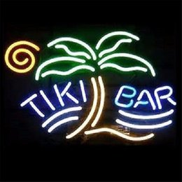 Tiki Lights Australia - New Star Neon Sign Factory 17X14 Inches Real Glass Neon Sign Light for Beer Bar Pub Garage Room Tiki Bar Palm Tree.