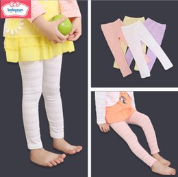 wholesale kids pencil pants NZ - New Arrival Kids Ins Korean Style Cotton Long Tights Pretty Candy Color Girls Fashion Leggings Solid Pencil Pants