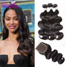 virgin brazlian hair 2019 - Body Wave Bundles With Closure Brazilian Unprocessed Virgin Hair Weave Bundles With Closure Brazlian Human Hair Bundles