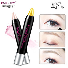 $enCountryForm.capitalKeyWord Australia - OMY LADY IMAGES Dazzle colorful moving Lie silkworm pen Pearl lie Eyeshadows stick Waterproof and durable No shading Eye makeup