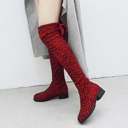 cowboy prints NZ - Women Suede Leopard Print Short Boots New Round Toe High Boots Over-The-Knee Shoes Winter Warm Short Plush Boot Botines Mujer