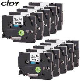 CIDY 10pcs Compatible p touch stratifié Tze 231 TZ231 Tze231 ruban 12mm Noir sur blanc Tape Tze-231 TZ-231 pour les imprimantes frère