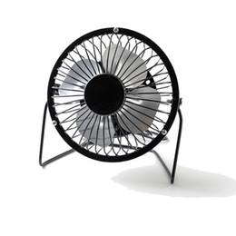 Portable Air Cooling Fan Australia - USB Mini Fan Portable Metal Personal Cooling Fan 4 Inch Small Desk Fan Air Circulator Quiet Operation for Table Desktop Home Office