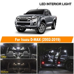 7pcs White Canbus Error Free LED interior Dome Map License Plate Light Kit For 2002-2019 Isuzu D-MAX D MAX Dmax I II
