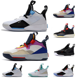 premium selection ec9ae 6b845 Jumpman XXXIII 33 Mens Basketball Shoes 33s Guo Ailun Future of Flight Tech  Pack Multicolors Black Trainers Designer Sneakers Men 8-13
