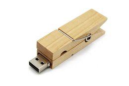 $enCountryForm.capitalKeyWord Australia - High quality Wooden Clip USB Flash Drive 8gb 16gb 32gb 64gb Gift Disk On Key Pendrive