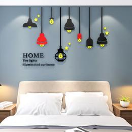 $enCountryForm.capitalKeyWord Australia - Creative chandelier 3d self-adhesive acrylic wall sticker bedroom sofa background wallpaper Home wall decoration painting