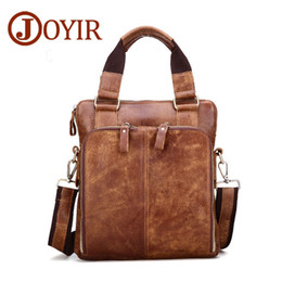 luxury briefcase man Canada - New Fashion Men Briefcases Genuine Leather Men's Bag Business Handbags Messenger Shoulder For famous designers brands luxury bags Best Sale