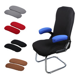 Home Office Chair Australia - 2pcs Chair Armrest Pads For Home or Office Chairs For Elbow Relief Polyester Armrest Gloves Slip Proof Sleeve Pack Chair Cover