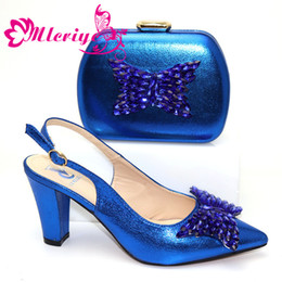 $enCountryForm.capitalKeyWord Australia - 2019 Sexy Italian Women Matching Shoes and Bag Set In Heels Matching Shoes and Bag Set for Nigerian Party in Blue